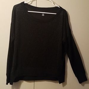 A.n.a size small. Black sparkly shirt